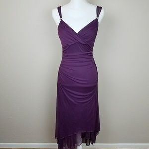 Beautiful Deep Purple Dress Elegant Goddess Prom M